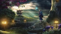 Photoshop Tutorials - Learn photo editing and be able to create a fantasy world as the one on this this photoshop tutorial.