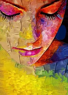 She cried tears of color out strands of her hair. Soon butterflies flew from eyelashes and her cheeks filled with watercolor swirls, the display of all her wonders.