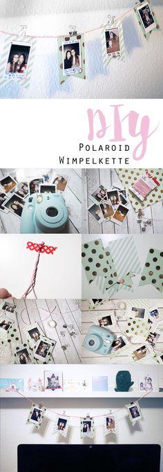 KuneCoco: DIY Polaroid Wimpelkette ~ Dekorative Aufbewahrungsmöglichkeit für Fotos.