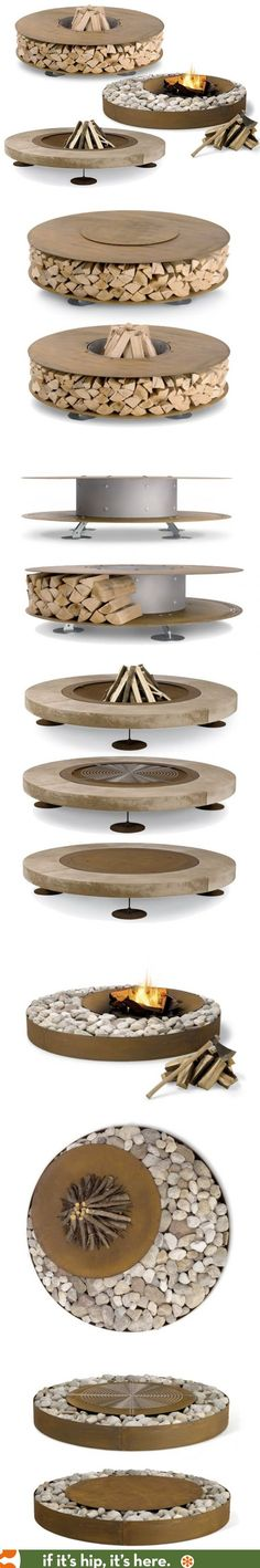 These outdoor Fire Pit Kits are both stunning and easy to assemble.