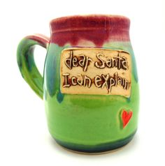 Pottery Handthrown Ceramic Stoneware Mug by jewelpottery on Etsy, $27.00