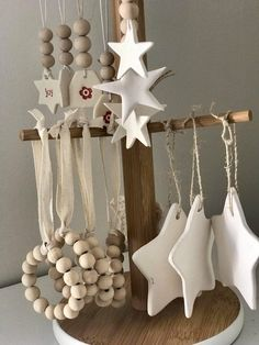 Wooden bead and clay Christmas decorations, Bead Christmas Clay Decorations Wooden christmasdecorideas Wooden bead and clay Christmas decorations, Bead Christmas Clay Decorations Wooden Clay Christmas Decorations, Christmas Clay, Diy Christmas Ornaments, All Things Christmas, Holiday Crafts, Christmas Holidays, Scandinavian Christmas Ornaments, Winter Decorations, Nordic Christmas