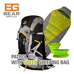 Bear Grylls Patrol With Womens 30 Degree Sleeping Bag Combo Pack * Details can be found by clicking on the image. (This is an affiliate link) Monogram Sweatshirt, Bear Grylls, 30 Degrees, Sleeping Bag, Fabric Material, 30th, Packing, T Shirts For Women