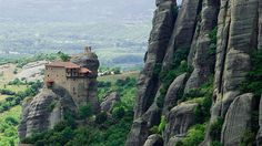 The Monastery of the Holy Trinity in Meteora -- above Kalambaka, Greece -- served as a location shoot in the 1981 Bond flick For Your Eyes Only. A Greek bishop was paid to allow filming in the monasteries. Rumor has it that actor Roger Moore had a great fear of heights, and to do the climbing, he resorted to moderate drinking to calm his nerves. We're just wondering if it was shaken, not stirred.