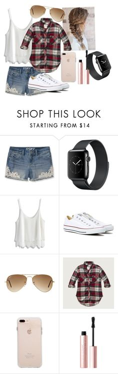"""Untitled #12"" by nknudson-04 on Polyvore featuring Chicwish, Converse, Ray-Ban, Abercrombie & Fitch and Too Faced Cosmetics"
