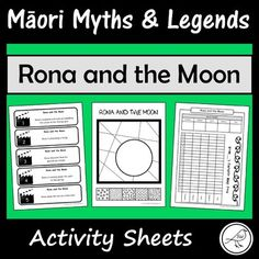 These are fun and engaging activity sheets for the story 'Rona and the Moon'. Plenty of activities to pick-and-choose from. Simply print and you're ready to go! A great addition to a unit study on Māori Myths and Legends. Most of the activity sheets can be used with any retelling of this story.
