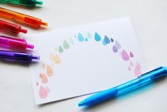 Printable Rainbow Card