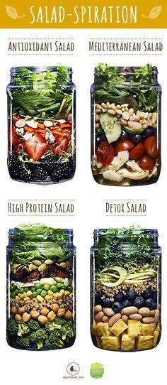 Ensalada antioxidante, mediterránea, alta en proteínas y detox. ¿Qué mas necesitas?