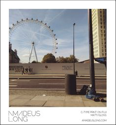 London Eye, London Wheel, London Print, Waterloo Print, London Photography, Tourist Print, Summer Art, Ferris Wheel Print, Homeless Art, Art by AmadeusLong on Etsy