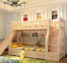 Image result for bunk beds with slides