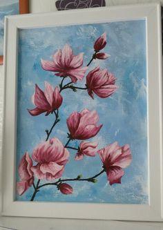 Magnólie, olej na plátně