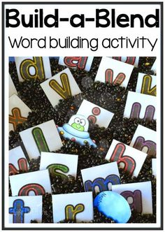 A FREE activity for doing word building in a sensory bin! We had a blast with this!