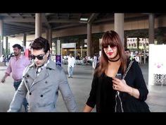 Karan Singh Grover & Bipasha Basu spotted at Mumbai airport.