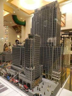 At the LEGO Shop at Rockefeller Center in New York City