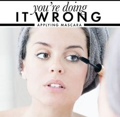 Instead of applying mascara to your lashes upwards, try a different angle. Apply it by sweeping the mascara wand towards your nose. So, move it to the side instead of up. This will create the illusion of your eye being bigger. It will also make your lashes look fuller.     20 Make-up Tips, Tricks, and Hacks – Page 9 – Variety Tribune
