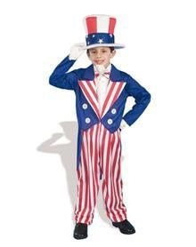Salute our great nation in this patriotic and fun Uncle Sam child costume.