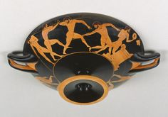 """Attic Red-Figure Kylix,"" (3/4 side B 1/94), attributed to Carpenter Painter, Athens, Greece. 510 - 500 B.C. 