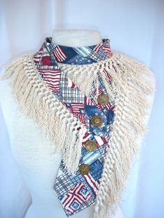 Vintage Inspired Collar Made From Upcycled by Rumpelsilkskin