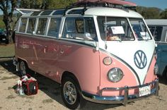 My Hubby's love of VW's has wore off on me. Pretty in Pink =)