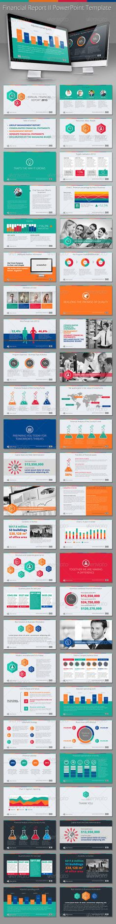 Financial Report II HD PowerPoint Template - Presentation Templates