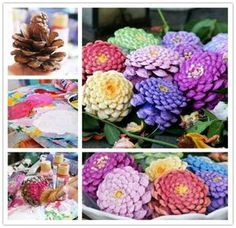 How To Make Gorgeous Pine Cone Flowers | The WHOot