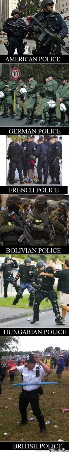 Police officers from around the world - http://www.jokideo.com/