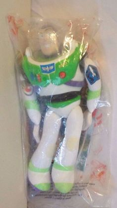Toy Story Buzz Lightyear 1990's Burger King Toy Still in Plastic #Disney