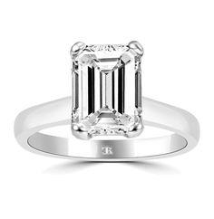 Enrapture | Charlesrose Asscher Cut Diamond, Diamond Solitaire Rings, Emerald Cut Diamonds, Round Diamonds, Diamond Cuts, Or Rose, Rose Gold, White Gold, Gems