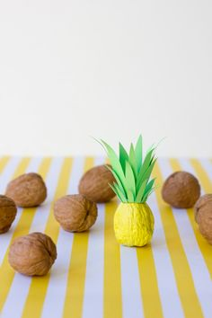 DIY #pineapples from walnuts