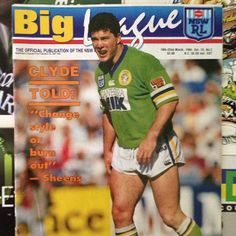 FLASHBACK: Canberra Raiders backrower Brad Clyde in 1994.