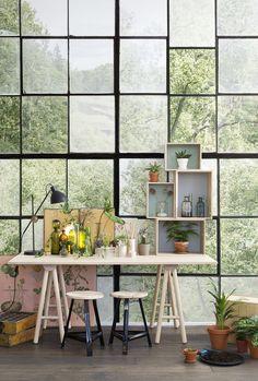 Factory Window. Tapete | Fototapete | Moderne ...