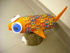 One Crayola Short: Paper Mache Fish Crafts From Recycled Materials, Recycled Art, Preschool Crafts, Crafts For Kids, 3d Art Projects, Recycling Projects, Paper Mache Crafts, 4th Grade Art, Gifts For Photographers
