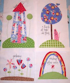 Cherise shared her Favorite Things Blocks!  I love the pink cats.  Thanks for sharing!