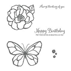 Stampin' Up! Beautiful Day stamp set. Available from Di Barnes, Independent Demonstrator in Sydney Australia 2018 Occasions Catalogue