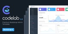 Buy CodeLab - Ultimate Bootstrap 4 Admin Dashboard Template by vectorlab on ThemeForest. CodeLab is a premium Bootstrap Admin Dashboard Template. It comes with tones of well designed UI elements, comp. Html Website Templates, Template Site, Email Templates, Dashboard Template, Admin Panel, Ui Elements, Web Application, Ui Design