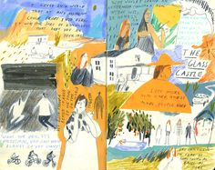 Illustrator Charlotte Ager's evocative and multilayered drawings -- like a carnet de voyage