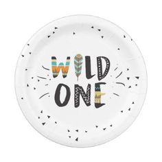 Wild One Tribal First birthday Paper Plates Boho - party gifts gift ideas diy customize  sc 1 st  Pinterest & Wild One Tribal First birthday Paper Plates Boho | Birthdays ...