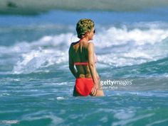 swims in the sea during a holiday on January 30, 1993 in the Island of Nevis