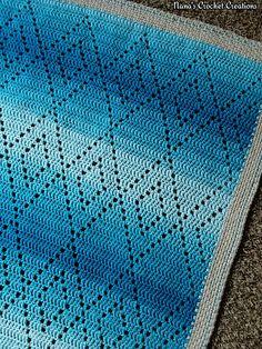 """Ravelry: Nana's """"Hopscotch Harlequins Blanket."""" pattern by D Maunz"""