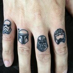 Star Wars finger tattoos