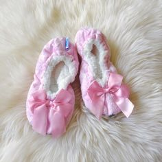 a0fd4be7a58 Prep Obsessed · Products · Kids Bow Snoozies! Slippers - Light Pink