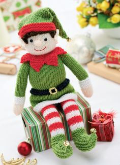 Bernard the Elf - Is this cute or what?!! It is on the Let's Knit Magazine website, www.letsknit.co.uk