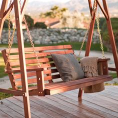 Belham Living Richmond Straight Back Porch Swing - Get an exceptional value with classic design. The Belham Living Richmond Straight Back Porch Swing is made of kiln-dried red shorea (red lauan), an ex...