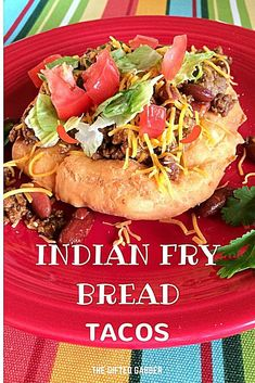 """Indian Fry Bread Tacos - The Gifted Gabber - Taco Night - Fried Bread - Fried Dough - #FryBread Recipe - #IndianFryBread Recipe - Taco ideas - Easy Dinner Ideas - Delicious dinner recipes -#IndianFryBreadTacos Indian Fry Bread Tacos - This recipe for Indian fry bread tacos could not be easier. """"Taco bread"""" or """"chalupa bread"""" fries up easily for simple tacos on a hearty bread filling. #woadelish #food52 #foodgasmic #foodfestival #lunch #foodofmumbai #foodinsta #bhfyp #foodtography #foodpic…"""