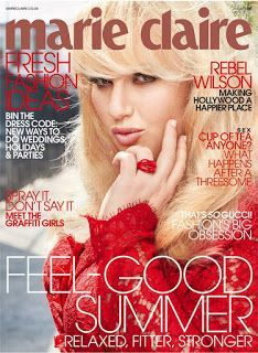 REBEL WILSON COVERS 'MARIE CLAIRE' MAGAZINE JULY 2016 ISSUE
