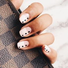 33 Pretty manicure that you can easily do - dot nail art design, painted nail art design, easy paint ed nail ideas,easy nail art ,simple nail polish #nails #nailartdesign