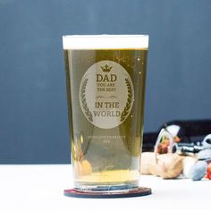 Engraved Pint Glass - Dad You're the Best