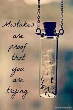Mistakes are proof that you are trying