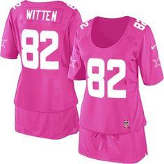 Dallas Cowboys Jason Witten Women's Jersey - Pink Breast Cancer Awareness Nike NFL #82 Game