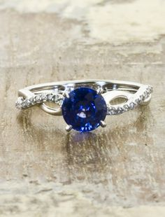 vintage sapphire engagement ring by ken and dana design    this is probably my favorite thing ever.